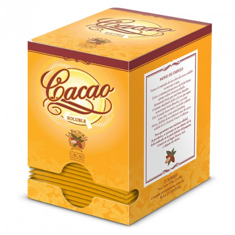 Cacao soluble La Factoria 18 gr x 25 sobres