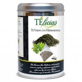 """""""Telicias"""" Piramides 25 ud. Verde con """"Hierbabuena"""""""
