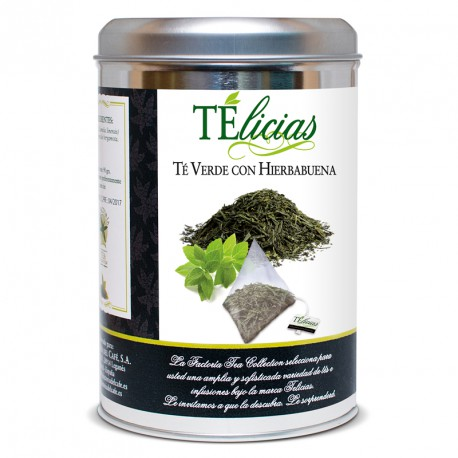 """Telicias"" 30 unit ""Peppermint"" Pyramid Green tea"