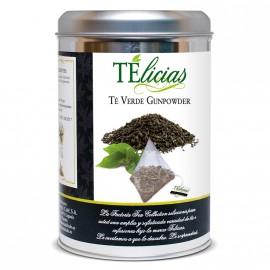 """""""Telicias"""" Piramides 25 ud. """"Te Verde Gumpowder"""""""