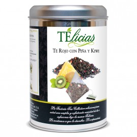 """Telicias"" Kiwi and Pineapple Red Tea - 25 Pyramid tea bags"