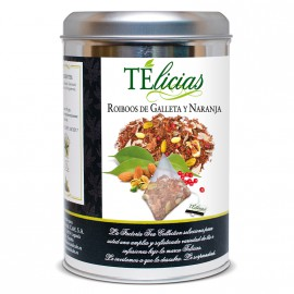 """Telicias"" Rooibos (Gingerbread) Biscuit and Orange - 25 Pyramid tea bags"
