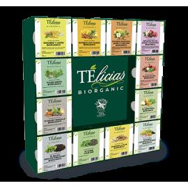 Pack Telicias Biorganic 12 Sabores con Expositor