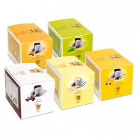 Collection 5 flavour Cocoa Powder Pack - 50 envelope (30 grams each)